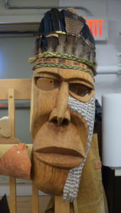 Here is a stunning collaborative piece by Staphan Roberge and Cyril Sacobie, found in the Aboriginal Arts Studio